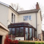 conservatory with terrace over - Bagthorpe